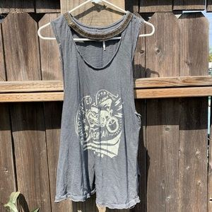Free People Motorcycle tank with neck hole